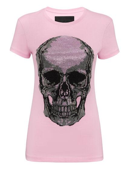 T-shirt Round Neck SS Classic Skull strass