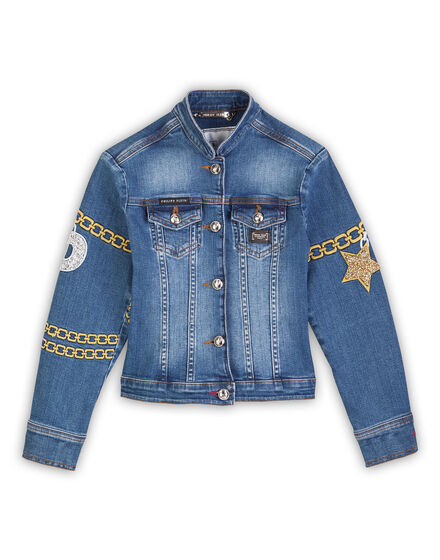 Denim jacket Bling