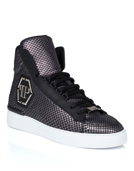 Hi-Top Sneakers skull silver
