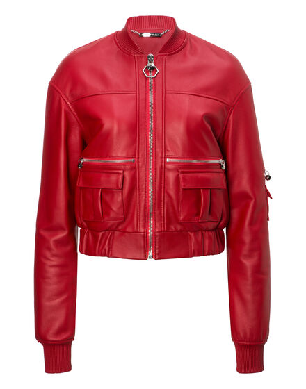 Leather Bomber Astor Place