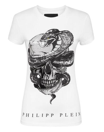 T-shirt Round Neck SS Snake Skull