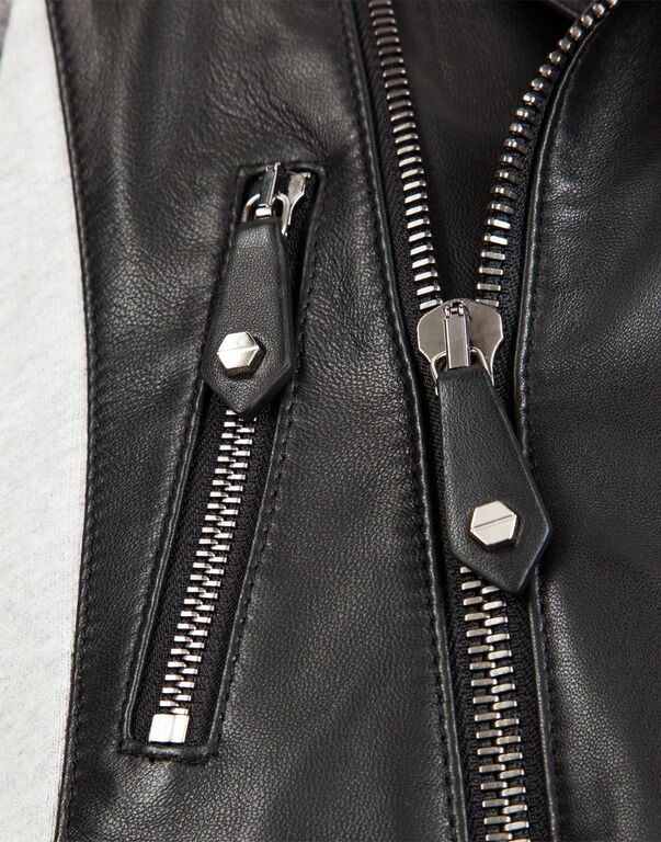 """leather jacket """"baby skull"""""""