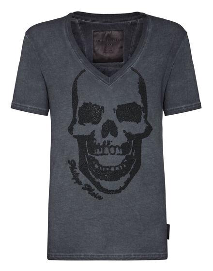 T-shirt V-Neck SS Skull