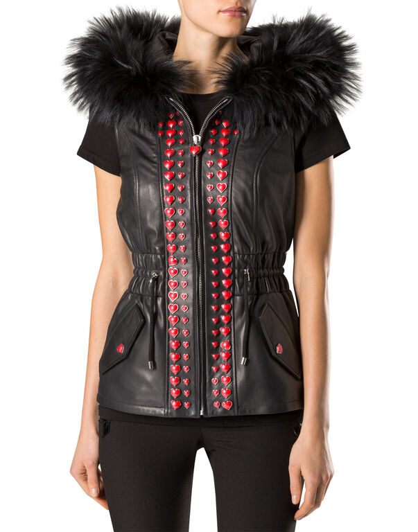 "Leather Vest Short ""Webb"""