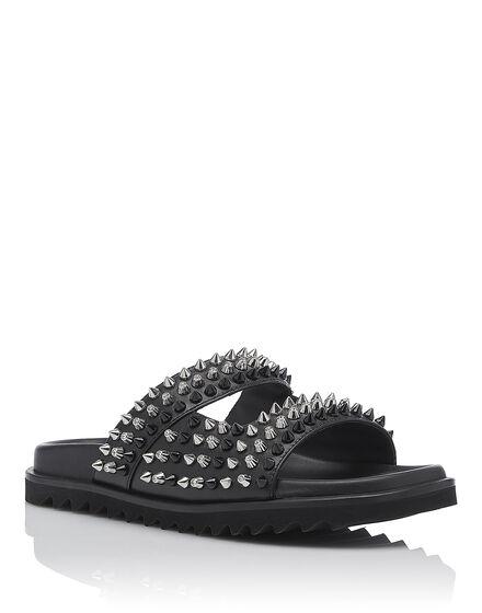 Sandals Flat Round and round