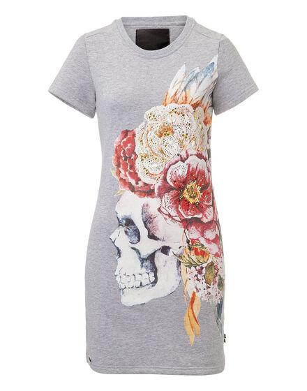 T-shirt Dress Skull queen
