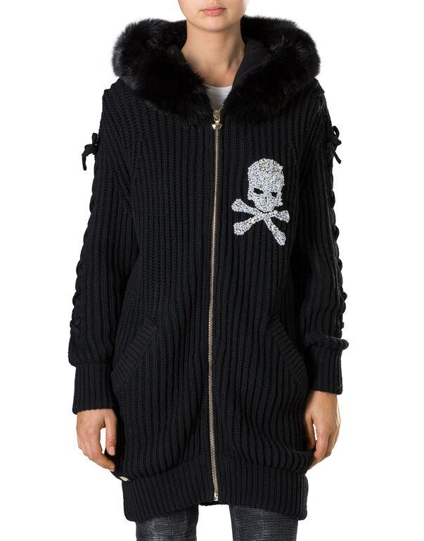 """Knit Jacket """"Kiss Snow"""""""