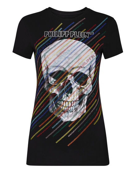 T-shirt Round Neck SS Skull and roses