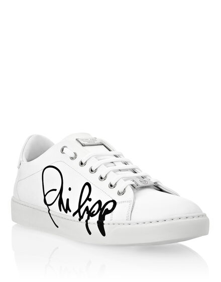Rubber Leather Lo-Top Sneakers Signature Edition