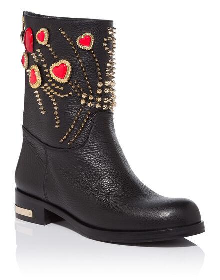 Boots Mid Heels Low shada