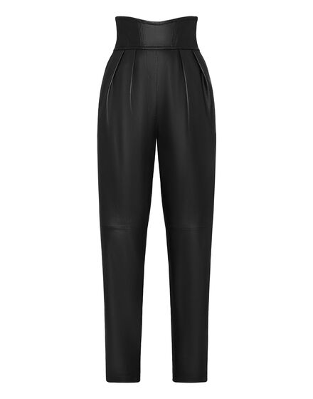 Leather Trousers Long 80s Fit Iconic Plein