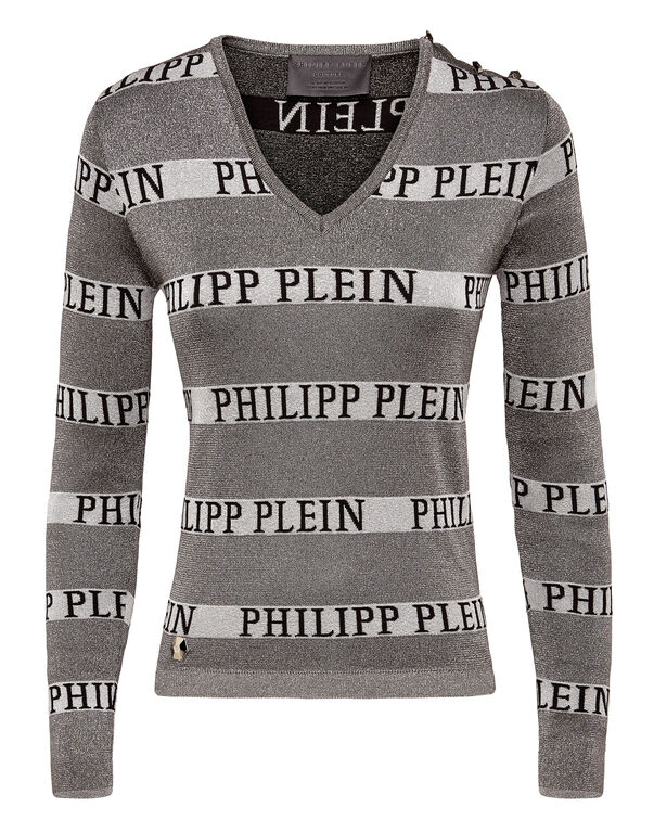"Pullover V-Neck LS ""Lines"""