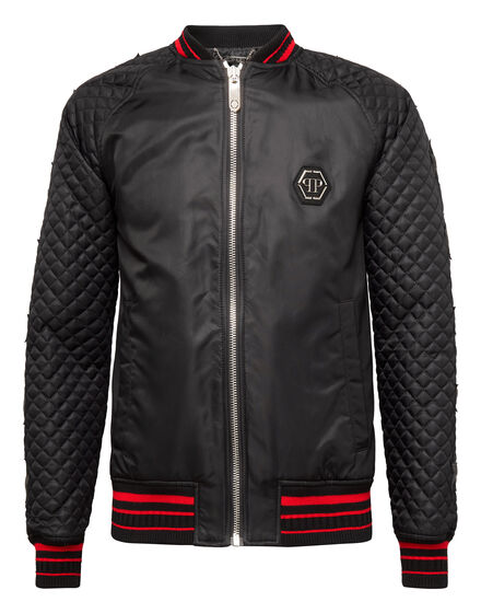 Nylon Jacket Skull snake red