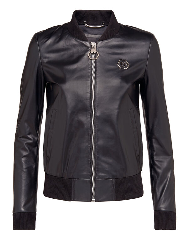 "Leather Jacket ""Happy Mind"""