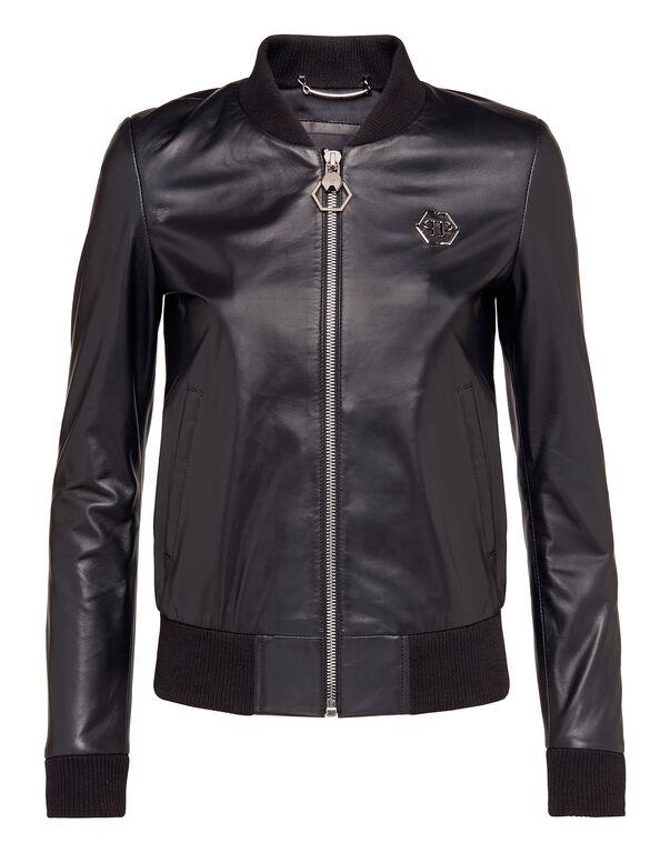 """Leather Jacket """"Happy Mind"""""""