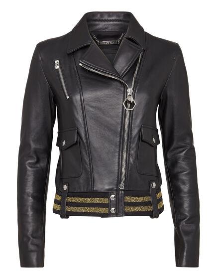 Leather Biker Gold