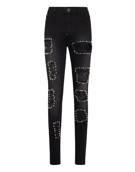 High Waist Jegging Space Plein