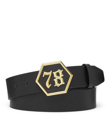 Leather Belt Gothic Plein